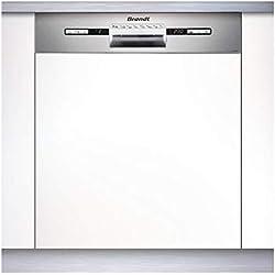Brandt VH1772X lave-vaisselle Semi intégré 12 places A++ - Lave-vaisselles (Semi intégré, Taille maximum (60 cm), Acier inoxydable, Boutons, 1,5 m, 1,5 m)