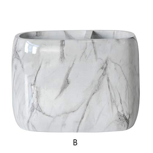 Ruda Office Home Kreativer Stifthalter für Make-up-Pinsel Vase Aufbewahrungsbox mit Marmor Körnung Schreibtisch Container Werkzeug Organizer Tool (Office Schreibtisch Home)