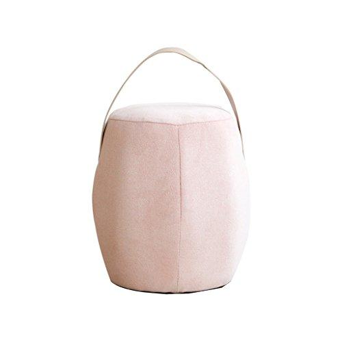 Nordique couleur tissu petit tabouret en bois chaussure banc simple mode créatif tabouret 25 * 25 * 32 cm ( Color : Pink )