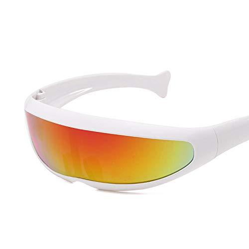 MINGMOU Neue Sonnenbrille Ende Neue Sonnenbrille Polizei Laser Laser Brille Herren Cool Cool Reflective, C36