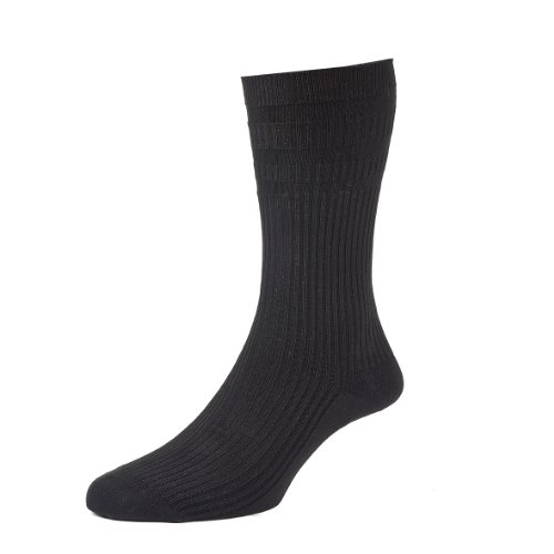 HJ Hall Softop HJ191 Extra Wide Cotton Rich Non Elastic Socks / UK 6-11 & UK 11-13 / **NOW IN WHITE**