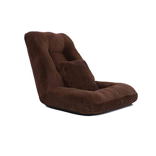Wgxx sedie pieghevoli lounge divano-letto pieghevole singolo posteriore l'ammortizzatore, regolabile 14-posizione piano lounger sleeper materasso futon sede della sedia (colore : caffe'colore)