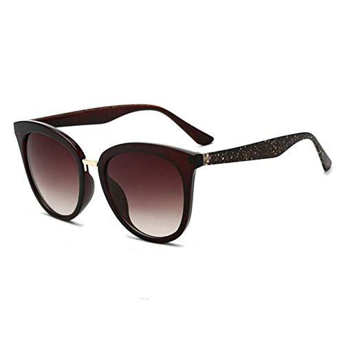 HSNCXD Sonnenbrillen Cat Eye Polarized light Sunglasses Women Gradient Shades Female Shiny Frame UV400