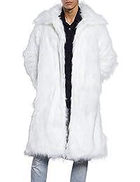 Herren Faux Fur Kapuzenmantel, TIFIY Winter Warme Wolle Thermische Strickjacke Outwear Mode Dicke Parka Mantel Biker Jacke Wintermantel