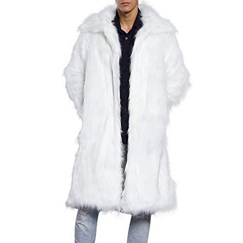 Beonzale Mode Herren Winter Wärme Dicken Mantel Mantel Jacke Kunstpelz Parka Outwear Cardigan Mantel Top