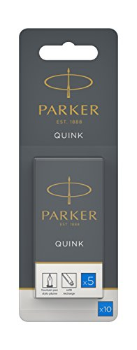 parker-quink-fountain-pen-refills-long-cartridges-washable-blue-ink-pack-of-10