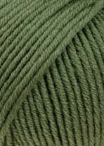 LANG YARNS Merino+ - Farbe: Olive Mittel (0397) - 50 g / ca. 90 m Wolle -