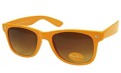 Orange Retro Fashion Designer Geek Nerd NHS Big Rave Party Brille groß Wayfarer Hot (groß)