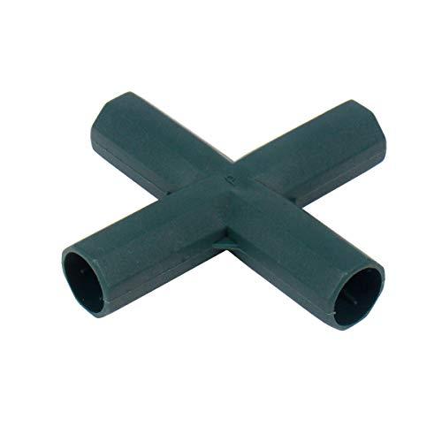 Gardeningwill 10 pcs Croix 4 Way 16 mm en PVC pour Construire Heavy Duty Serre Cadre Meubles Connecteurs