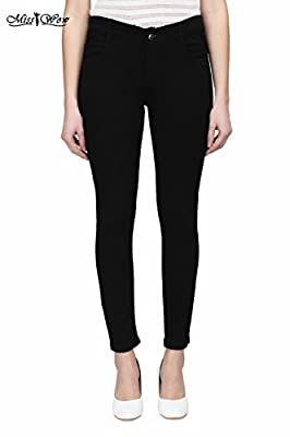 Miss WOW Latest Fashionable/ trendy skinny 100% stretchable stylish western wear slim fit casual denim jeans/ pant for women / ladies & big girls with ankle length,mid rise five pocket under 500