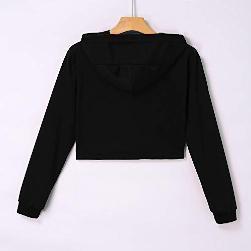 SamMoSon Clearance Sale Women's Casual Long Sleeved Tops,Hip-Hop Solid Color Pullover Sweater Tops,D,L