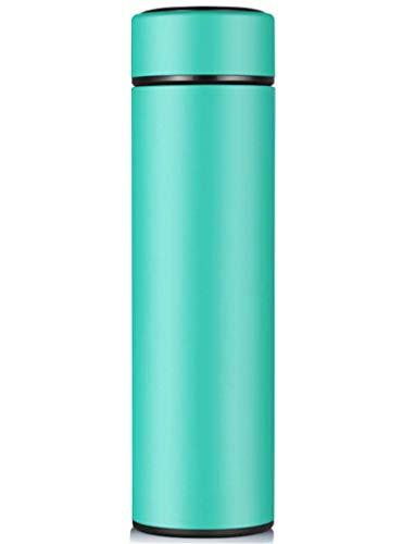 Reise-Tumbler, Wasser Cup Thermos Fashion Cup Außenschale Edelstahlschale (Farbe : Green, Größe : 71 * 71 * 243)