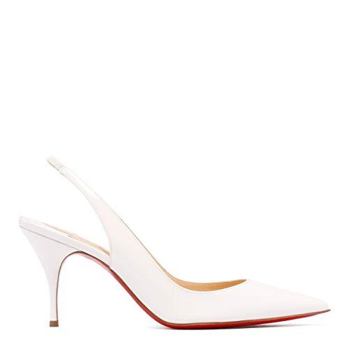 Christian Louboutin Scarpe con Tacco Donna 1190842W156 Pelle Bianco