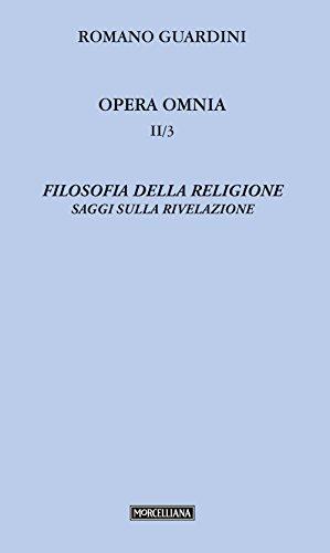 Filosofia della religione. Saggi sulla rivelazione