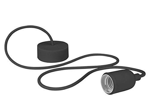 Velleman LAMPH01B Luminaire Design à Suspension en Cordage Verre Noir