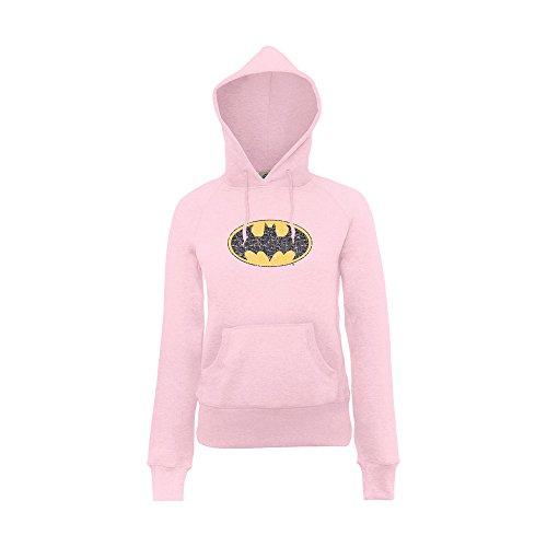Dc Comics Dc Comics Official Batman Gloss Logo Girls - Sudadera para niñas, color light rosa, talla 13 años