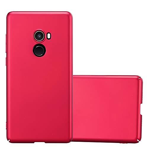 Cadorabo Hülle für Xiaomi Mi Mix 2 - Hülle in Metall ROT – Hardcase Handyhülle im Matt Metal Design - Schutzhülle Bumper Back Case Cover
