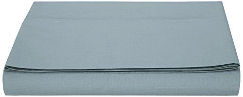 AmazonBasics - Sábana encimera, microfibra, Azul, 280 x 320 + 10 cm