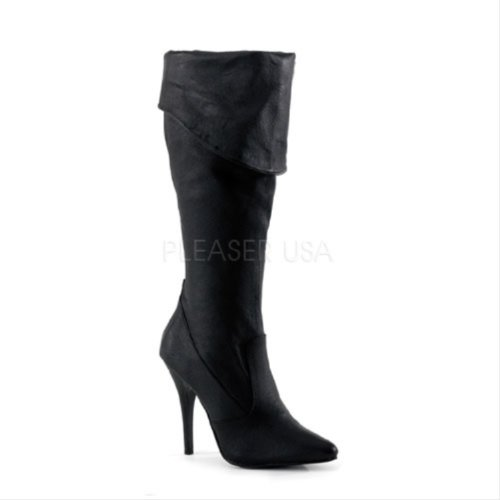 Pleaser SED2013/B/LE Bottes Femmes Blk Leather (P)