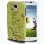 Alcoa Prime Butterfly Love Flower Pattern Magic Color Fluorescent Effect Shimmering Powder Plastic Case for Samsung Galaxy S IV / i9500(Green)