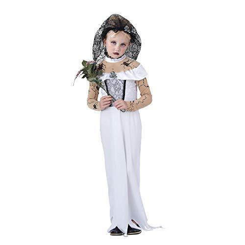 Zombie Bride (S) costume Kids Fancy Dress (Fantasy Bride Sexy Kostüm)