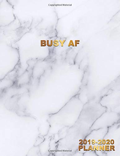 Busy AF 2019-2020 Planner: Pretty Marble Daily, Weekly and Monthly Planner 2019-2020. Cute Nifty Golden 2 Year Organizer, Yearly Schedule and Agenda ... and More. (Girly Personal Planners, Band 41)