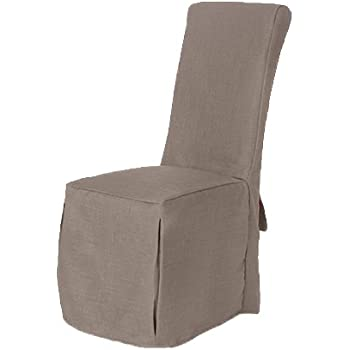 1 x Duckegg Fabric Dining Chair Covers for Scroll Top High Back Leather
