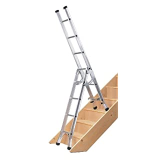 Abru DIY 3 Way Combination Ladder, 95Kg Load Capacity, BS 2037 Class 3, 5 Year Guarantee