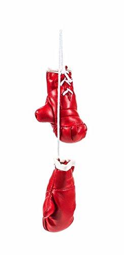 Mini Boxhandschuhe, witzig-sportliche Dekoration, Rückspiegel im Auto, Kunstleder, schlicht, Größeca.8,5cm, lieferbar in den Farben Schwarz oder Rot (Rot)