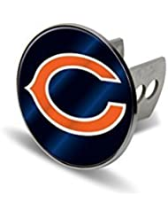 NFL Chicago Bears Laser Cut Metal Hitch Cover, Large, Silver by Rico