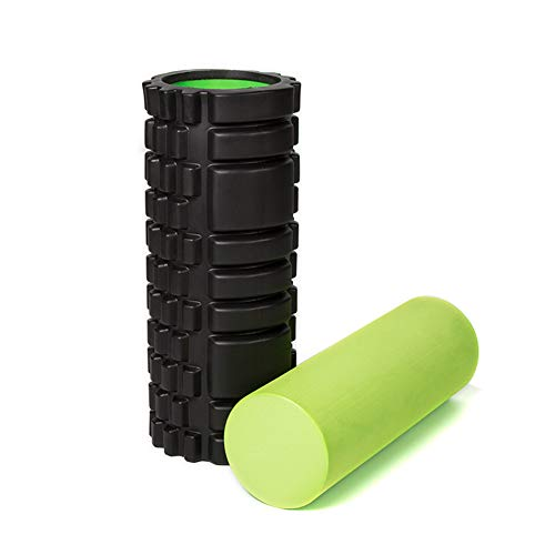 Yoga & Pilates Roller, Sports Foam Roller Für Tiefenmuskelmassage - Triggerpunkttherapie - Myofascial Release - Muscle Roller Für Fitness, 33 × 14Cm,Schwarz