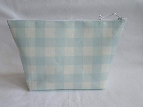 3294148efd85 31CqZqWnYlL - Handmade Large Oilcloth Make Up Bag/Toiletry Bag - John Lewis  Blue Gingham