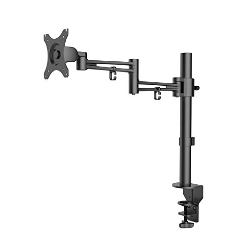 Preisvergleich Produktbild eSmart Germany TV / Monitor Tischhalterung 25 - 76 cm (10 - 30 Zoll) VESA 75 x 75 bis 100 x 100 neigbar + schwenkbar + drehbar + höhenverstellbar + Pivot Funktion Schwarz Montagelöcher am TV max. 100 x 100 mm (Breite x Höhe)