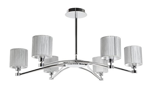 SUL EGO - Lámpara de diseño de 6 luces con pantallas de...