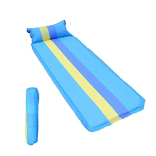 Selbst Aufblasen Schlafmatte Camping Pad Kompakte Leichte Camp Mat Aufblasbare Roll Up Foam Bed Zelt Pads für Camping Schlafsack (Farbe : Blau, größe : L) (Mat Roll-up Strand,)