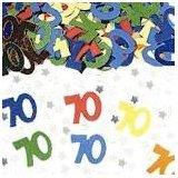 Amscan-Coriandoli da tavolo, 70° compleanno, anni 3 PKTS multicolore