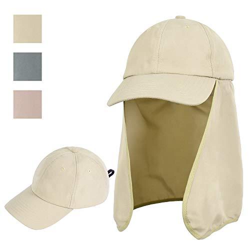 Solaris Outdoor Angelhut mit Ohrenklappe Abdeckung breite Krempe Sonnenschutz Safari Cap für Männer Frauen Jagd, Wandern, Camping, Bootfahren und Outdoor-Abenteuer, 5 Tan, Einheitsgröße -