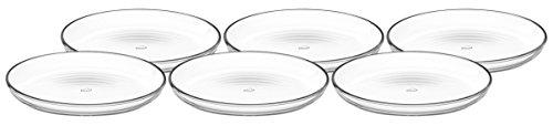 Leonardo 066330 Cucina Set 6 Teller 18 cm, Glas, klar, 18 x 18 x 2.1 cm, 6 Einheiten