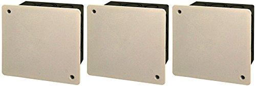 Blass Elektro Iso-Abzweigkasten Unterputz, 3 Stück, 80 x 80 mm, schwarz/weiß, 22203