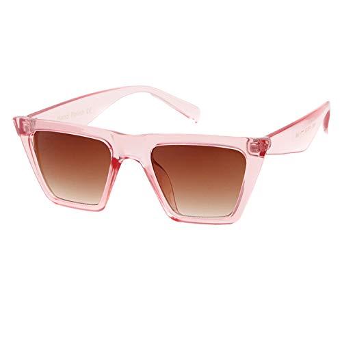 ADEWU Mode Damen Übergroße Sonnenbrille Vintage Cat Eye Retro Oversized Sunglasses Rosa