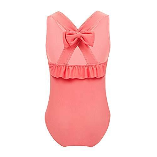 iiniim Baby Mädchen Tankini Bikini Einteiler Badeanzug Polka Dots Schwimmanzug Bademode (92-98/2-3 Jahre, Orange)