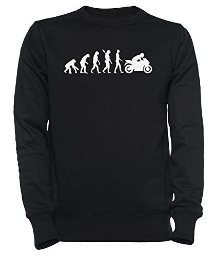 Rundi Evolution Motorrad Herren Damen Unisex Sweatshirt Jumper Schwarz Größe M - Women\'s Men\'s Unisex Sweatshirt Jumper Black