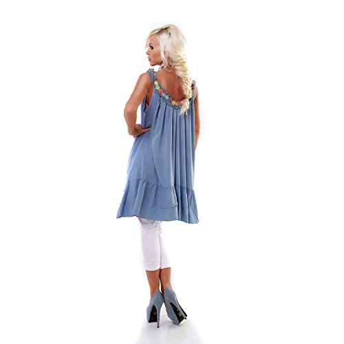Made Italy - Chemisier - Femme Bleu
