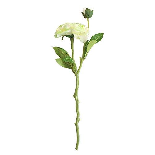 Dvhblxux Tête de Rose Et Blanc Real Touch décoration fête mariage Album Décoration la jaune Plastique Fausse à Fleurs Pivoine Branche Fête