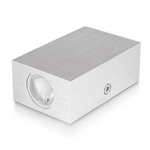 Yaione Indoor LED Wandleuchte Wandleuchte Kreative Moderne Aluminium Wandleuchte 2 Watt 80-90LM Schlafzimmer Wohnzimmer Korridor Einfache Installation Energy Star Zertifizierung (Color : Warm White) -