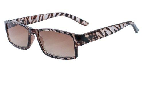 About Eyes SR158 Lauren - Vergrößerung +3.00, braun und transparent Bild bereit-zu-tragen Lesesonnenbrillen, 1er Pack (1 x 1 Stück)