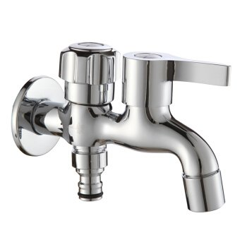 KUHA Bathroom Sink Monoblock Mixer Faucet Single Cold Mouth Washing Machine Tap A5 Water Outlet Nipple Anti Splash Water Faucet