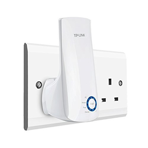 TP-Link N300 Universal Range Extender, Broadband/Wi-Fi Extender, Wi-Fi Booster/Hotspot with 1 Ethernet Port, Plug and Play, Built-in Access Point Mode, UK Plug (TL-WA850RE)