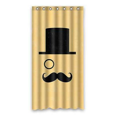 dalliy I Schnurrbart Kostüm der Duschvorhang Shower Curtain 90cm x 183cm 36
