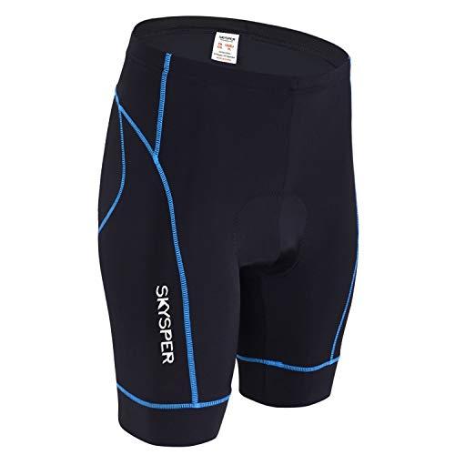SKYSPER Cuissard de Cyclisme avec Gel 3D Rembourré Shorts Cyclisme Séchage Rapide Respirant Confortable Pantalons...